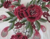 Neckline applique, embroidered applique
