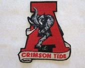 Embroidered Alabama Crimson Tide Iron On Patch, Crimson Tide, Iron On Patch, Crimson Tide Applique,  Alabama Crimson Tide