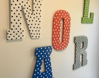 Wooden letter Collegiate Wall letter IN STOCK and ready to ship Hand painted wooden letter