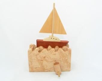 Kinetic Sailboat Automata
