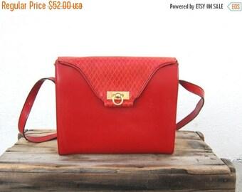 20% Off Sale Boxed Red Purse Italian Shoulder 80s Italian Crossbody Bag by Franco Godi