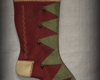 Snowy Night Stocking - Christmas Past Stocking Collection FINISHED PIECE by cheswickcompany