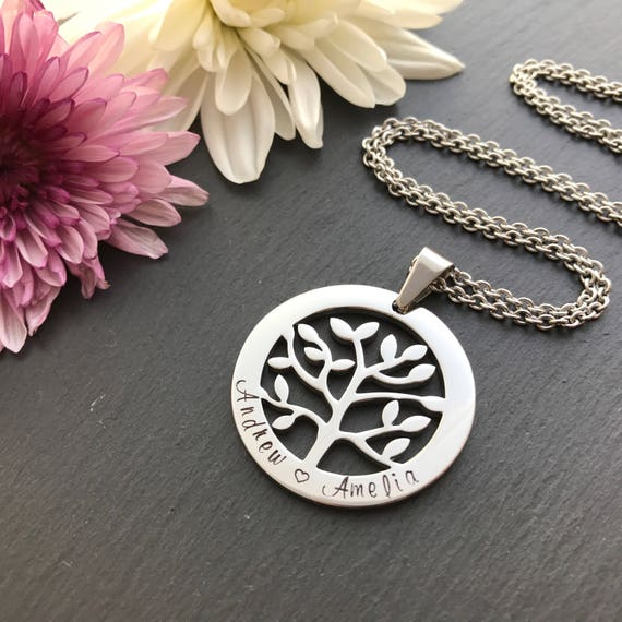 Personalised tree of life necklace mothers day gift tree like this item aloadofball Images