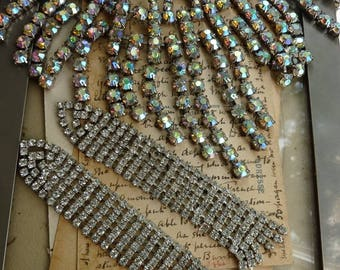 Vintage Rhinestone Lot, Costume Supply, Circus Costume, offered by RusticGypsyCreations