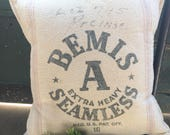 Bemis Grain Sack Pillow Cover by Gathered Comforts
