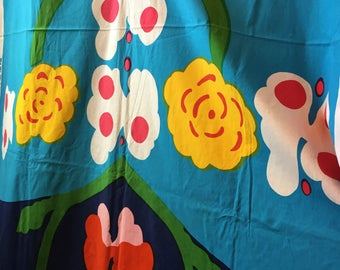 "Marimekko Oy Suomi Finland 1972 ""IBIR"" by Maija Isola Cotton Fabric 3 yds"