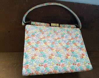 Vintage 1950's Embroidered Handbag