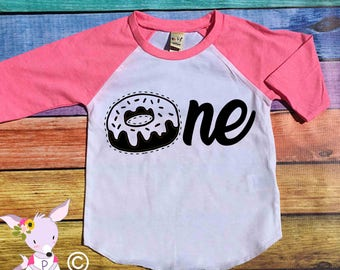 Birthday Shirt Donut Party First birthday number donut birthday shirt any age Two One Three Four donut party shirt donut birthday shirt