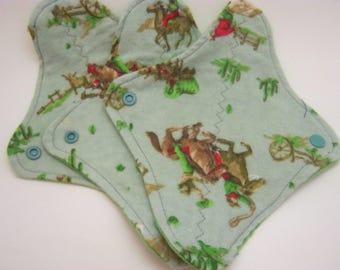 3 Cloth Panty Liners-Here Comes Cowboy