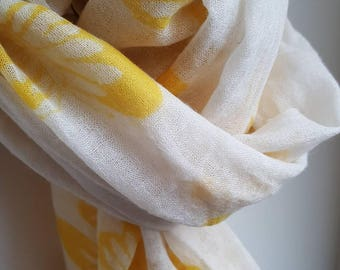 Amazing yellow butterflies adorn this scarf