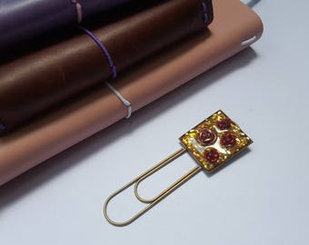 Red roses, glass glitter, metal bookmark, unique bookmark, planner clip, travelers notebook, planner accessories, gold, red and pink roses.