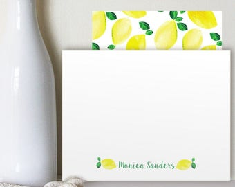 Lemon #Stationery - #Personalized #Notes #cards