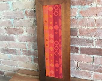 Vintage Art / Wooden Block Art / Graphic Textile / Wall Art / Home Decor / Handmade Art / Wooden Decor / Cabin Art