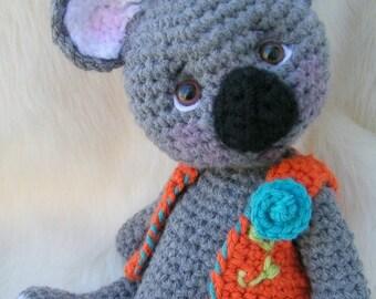 Summer Sale Crochet Pattern Koala Bear by Teri Crews instant download PDF format Crochet Toy Pattern