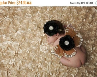 ON SALE Gold Newborn Wings,  wings and headband set, Angel Wings, newborn photography prop, baby wings, fairy wings