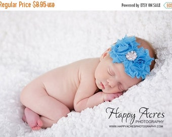 ON SALE Turquoise headband....baby headband...infant headband....newborn headband...toddler girl
