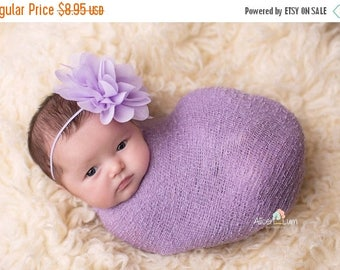 ON SALE Lavender Headband, Baby Girl Headband, Newborn Photo Prop, Photography Prop, Baby Girl Prop, MANY Colors Available