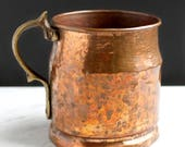 Vintage Copper Tankard with Handle