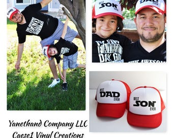 Best Dad Ever and Best Son Ever Trucker Hats, Dad and Son Matching Hats,Dad and Son Trucker hats,Best son ever trucker hat,Best dad ever hat