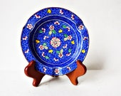 Vintage Chinese Cloisonné Ashtray/  Ring Dish, /Trinket Dish/ Small Brass Enamel Plate/ Collectible Cloisonné