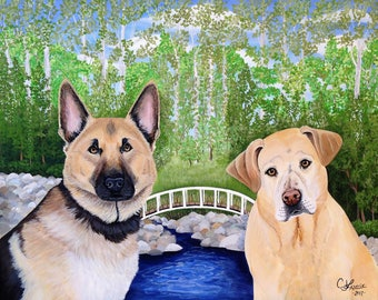 Original- Custom Pet Portrait on Canvas- Painted from your photos