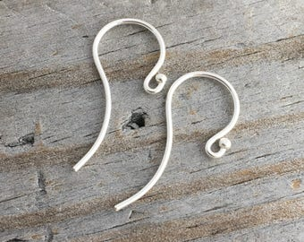 Sterling Silver Ear Wires 5 pair 10pc. Handmade Jewelry Supply Sterling Silver Jewelry Findings