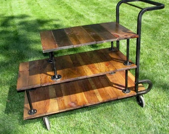 Rustic Industrial Steam Punk Factory Cart Coffee table