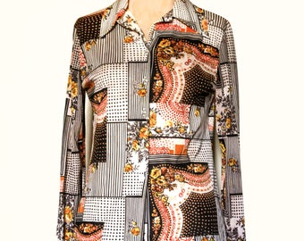 Vintage Groovy Patchwork Women's shirt