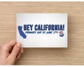 Custom California postcards for Boofu