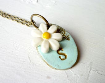 Daisy Necklace with Custom Letter