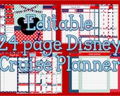 Editable Disney Cruise Planning Binder, Binder Cover, Journal, Itinerary, Mickey Mouse Instant Download
