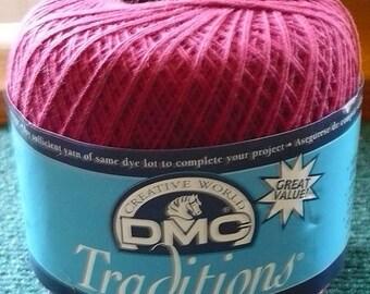 CHRISTMAS IN JULY 1 - Dmc - Traditions Crochet Thread - Color - 5815 - 350 Yards - 2 Ozs. - Read Below