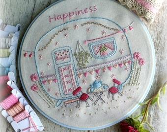 little caravan embroidery pattern PDF