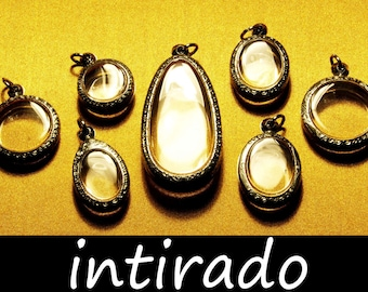 Terrarium Jewelry, Terrarium Necklace Kit, Living Plant Jewelry, Japanese Moss Ball, Shadow Box Pendants, Watch Locket, Craft Supplies, 7pcs