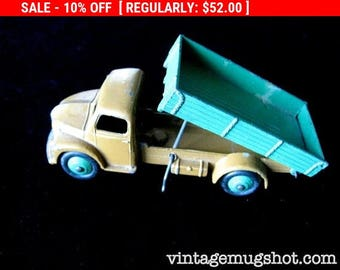 Christmas In July SALE Vintage 50's Dinky 30MM Dodge Rear Tipping Dump Truck 1950-1954 exc.