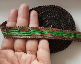 Uzbek handwoven cotton trim Jiyak. NTR045