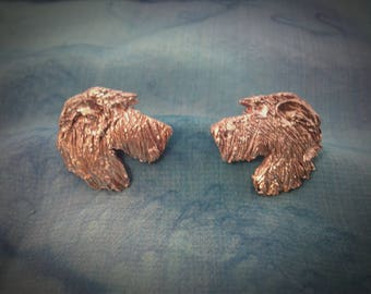 Irish Wolfhound Fine Silver Earrings