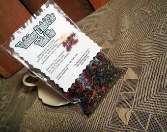 Holiday Tea Blend, Holiday Holy Tea, Tulsi Tea, Holy Basil Tea, Lemon Balm, elderflower, Rose petals