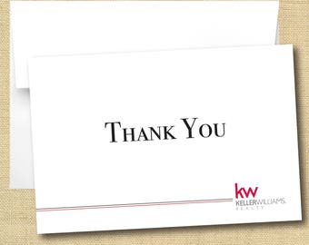 Set of Thank You Cards - Keller Williams Professional Font