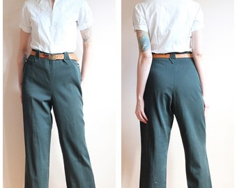 RESERVED FOR ALAINA // 1950s Pants // Painted Desert Twill Western Pants // vintage 50s pants