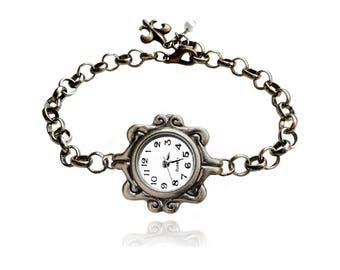 Get 15% OFF - Vintage-style Antique Bronze Handmade Fashion Women Quartz Watch Bracelet - 4th of July SALE 2017