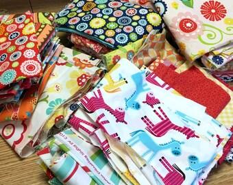 Scrap Bag Box of Cotton Fabric mostly Juvenile Girl Riley Blake