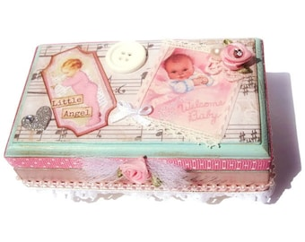 Baby Girl Memory Box Baby Keepsake Box