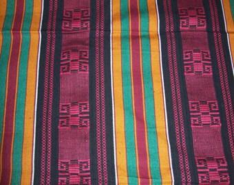 "31""x46"" inch African fabric woven kente cloth, burgundy red color/Kente throw/ Kente cloth"