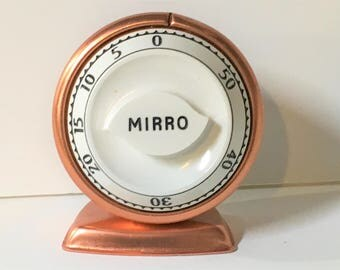 Mirro Copper Timer Mid-century Kitchen Oven
