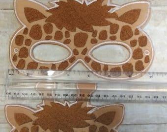 Adult Giraffe Mask, Felt Giraffe Mask, Mask, Ready to Ship, Felt Mask, Animal Mask, Teen Mask, Party Favor, Pretend Play, Adult Mask