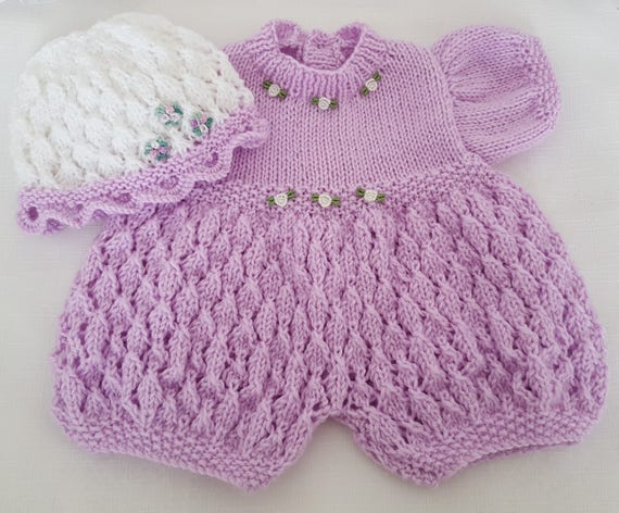 Baby Girls Knitting Pattern - Download PDF Knitting ...