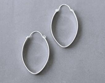 Bold Large Silver Hoop Earrings, Modern Hoop Earrings, Contemporary Earrings, Sassy Hoops