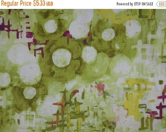 ON SALE SPECIAL--Soft Green Abstract Reflecting Pool Print Pure Cotton Fabric--One  Yard