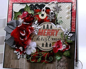 Merry Christmas Greeting Card Polly's Handmade